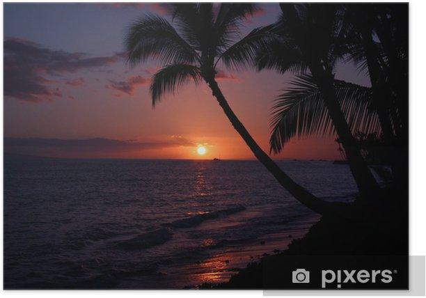 Plakát Maui západ slunce - Ostrovy