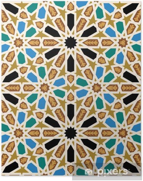 Plakat Maurów Fez Seamless Pattern Cztery - Mozaika