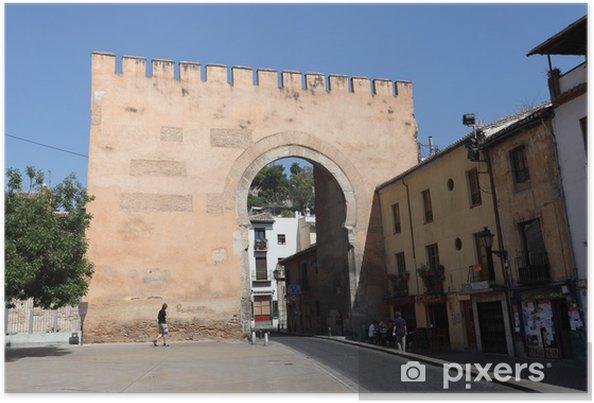 Plakát Maurské brána do Albaycin staré město Granada, Španělsko - Evropa