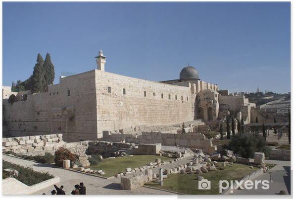 Plakat Meczet Al Aqsa w Jerozolimie świętej ziemi - Bliski Wschód
