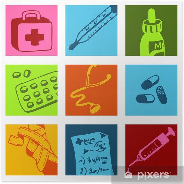 Plakat Medical picto - Zdrowie i medycyna