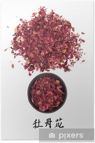 Plakat Medycyna kwiatów piwonii - Zdrowie i medycyna
