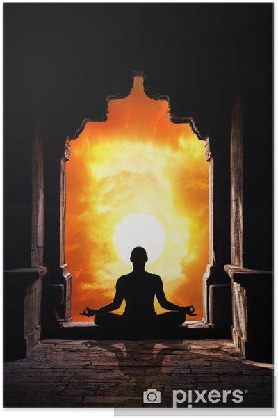 Plakat Medytacja w świątyni - Zdrowie