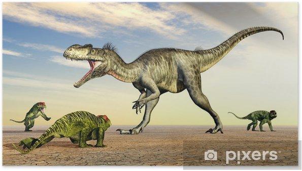 Plakat Megalosaurus und Doliosauriscus - Tematy