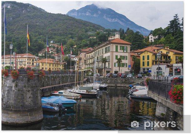 Plakat Mennagio Port - Jezioro Como - Wakacje
