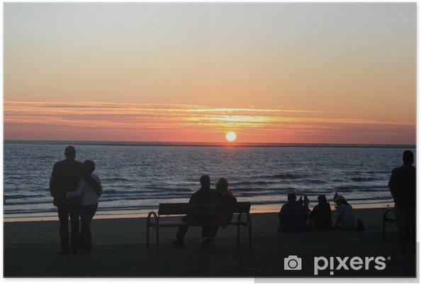 Plakát Menschen beim Sonnenuntergang - Nebe