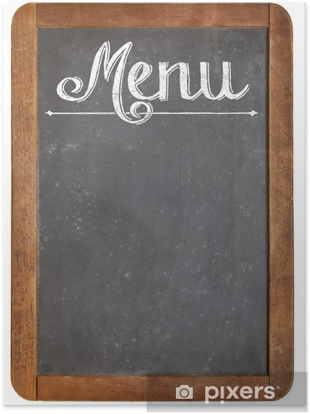 Plakat Menu na vintage tablicy - Znaki i symbole