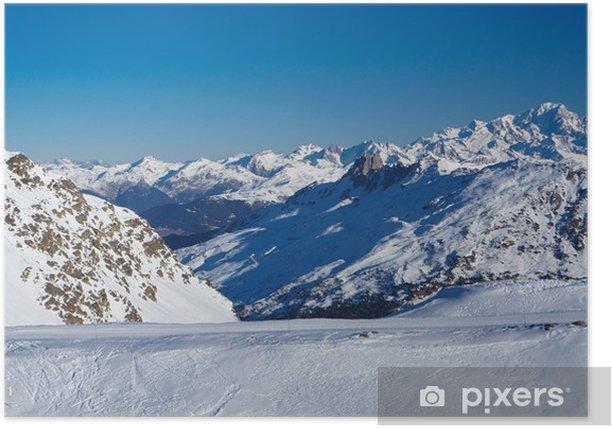 Plakat Meribel doliny i góry Mont Blanc - Europa