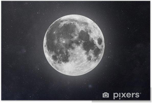 Plakát Měsíc - Meziplanetární prostor