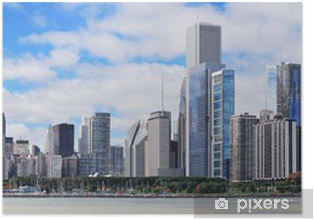 Plakát Město chicago městské panorama panorama - Témata