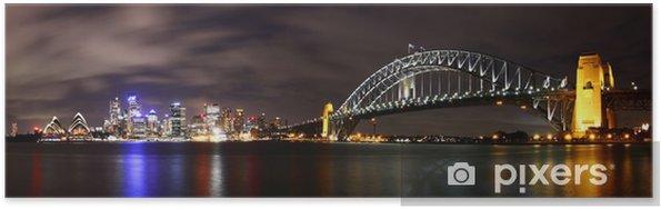 Plakát Město v noci (Sydney, Austrálie) - Témata