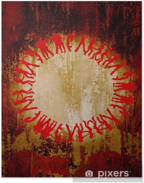 Plakat Metallvild - peopleworld - Tła