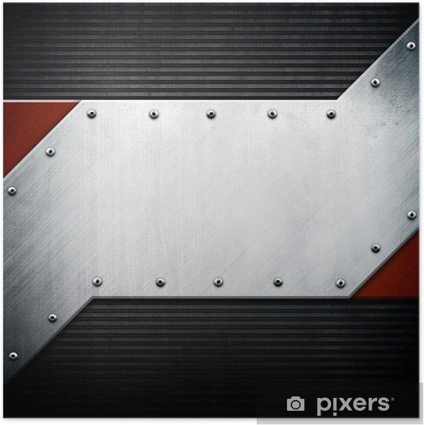 Plakat Metalowe tła szablonu - Tekstury