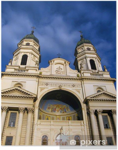 Plakat Metropolitan Cathedral w Iasi, Rumunia - Budynki użyteczności publicznej