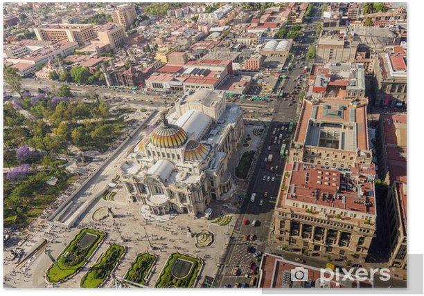 Plakát Mexico City Letecký pohled - Amerika