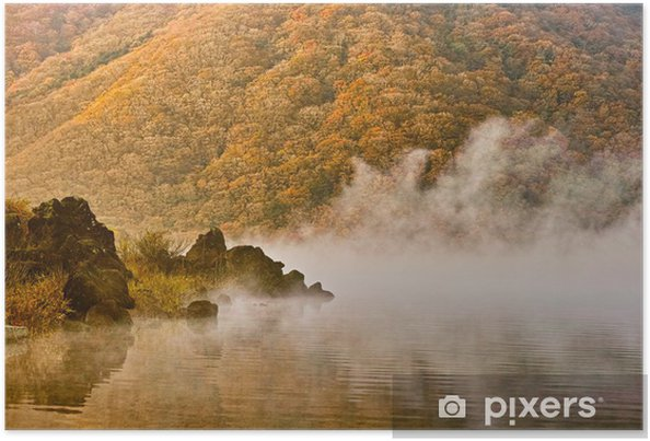 Plakat Mgła i jezioro - Woda