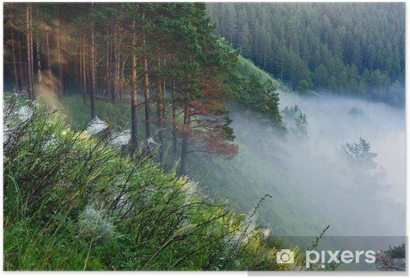 Plakat Mgła na skraju lasu - Lasy
