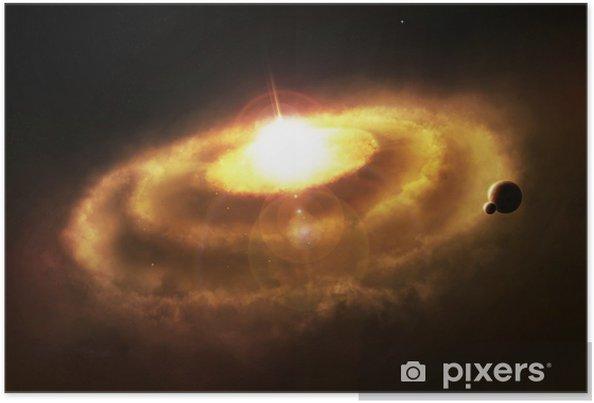Plakat Mgławica pierścień Galaxy, kataklizm space - Tematy