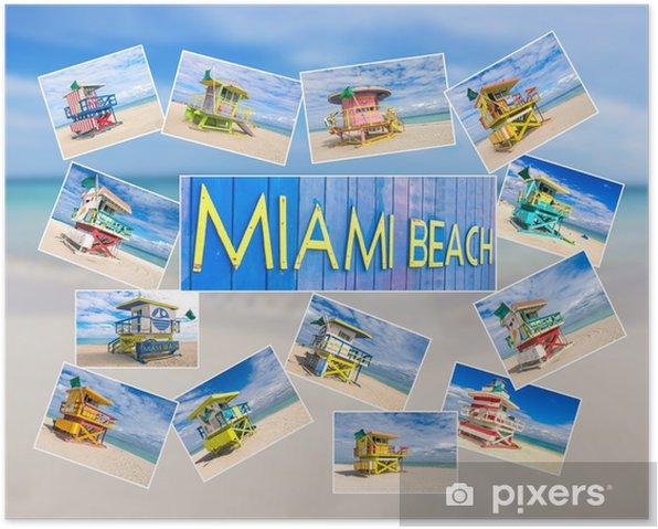 Plakat Miami Beach pocztówki - Ameryka