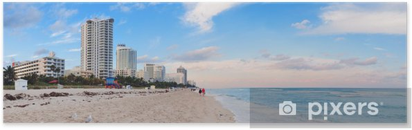 Plakat Miami Beach z widokiem na morze - Ameryka