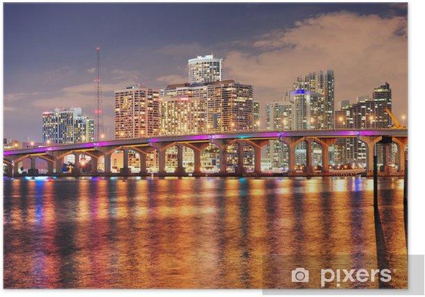 Plakat Miami night scene - Tematy