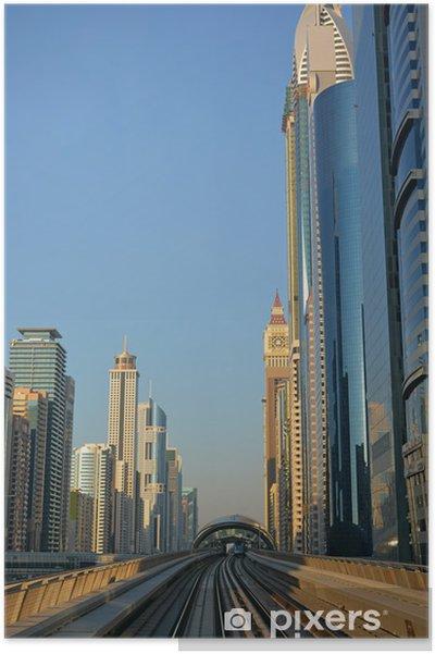 Plakat Miasta, Metro, Dubaj - Tematy