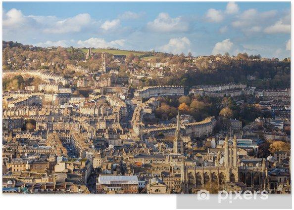 Plakat Miasto Bath Somerset Anglia UK Europa - Europa
