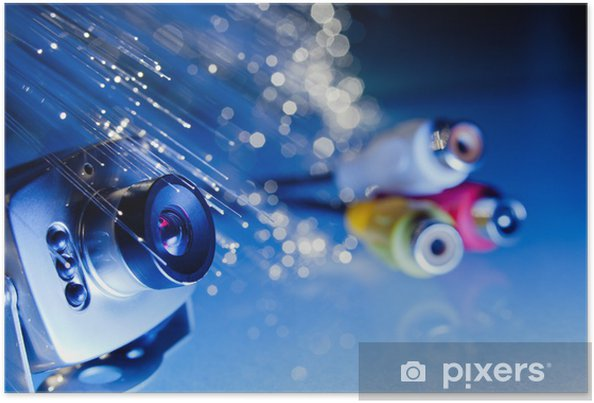 Plakát Micro kamera con connessioni - Značky a symboly