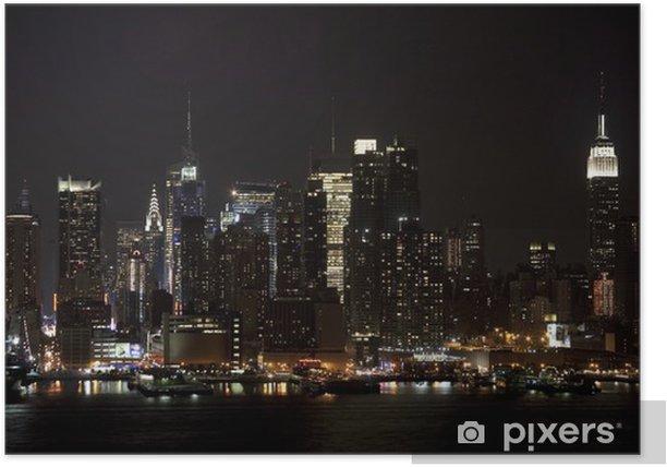 Plakát Midtown Lights - Americká města