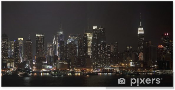 Plakat Midtown Lights - Miasta amerykańskie