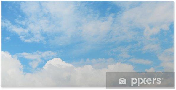 Plakat Miękkie chmury na niebie - Niebo