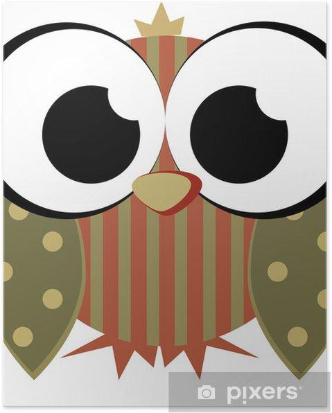 Plakat Miękkie Sowa - Ptaki