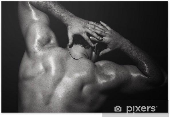 Plakat Mięśni mężczyzna model - Uroda i pielęgnacja ciała