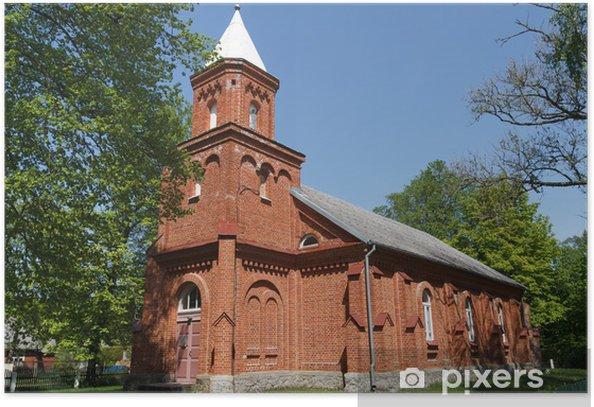 Plakat Mikeltornis Kościół Luterański - Budynki użyteczności publicznej