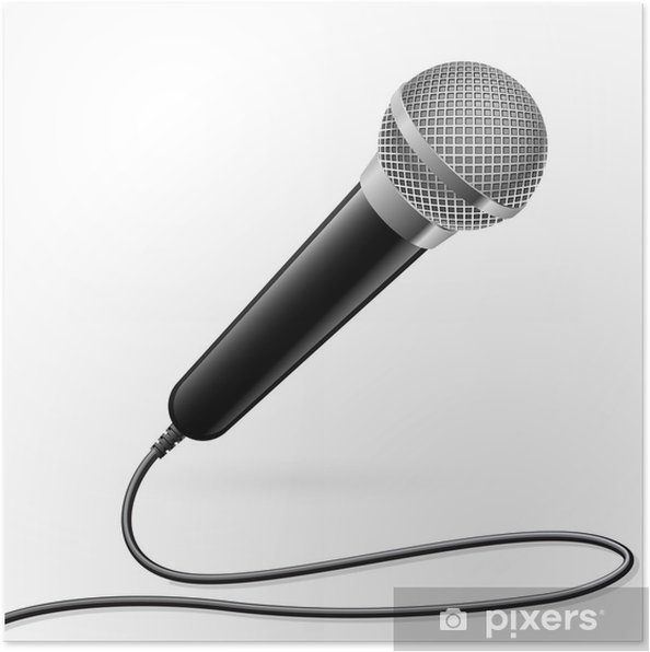 Plakát Mikrofon pro Karaoke - Hudba