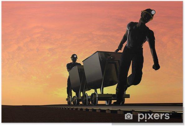 Plakat Miners. - Surowce