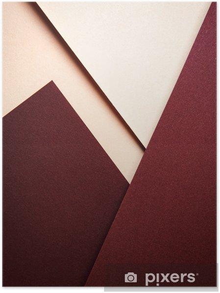 Plakat Minimalistyczna kompozycja geometryczna z kolorowymi papierami - Biznes