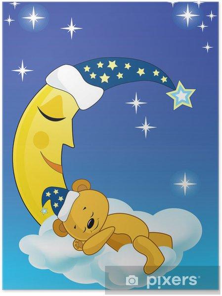 Plakat Miś śpi. - Tematy