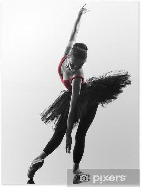 Plakát Mladá žena baletka baletka tančí - Balet