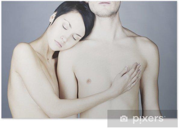 Plakat Młoda para sensual - Pary