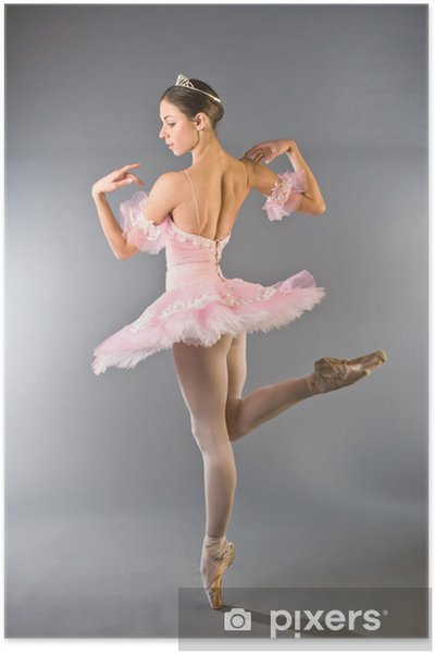 Plakat Młoda piękna tancerka z wdziękiem - Tematy