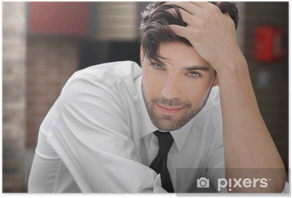 Plakat Młody przystojny mężczyzna - Uroda i pielęgnacja ciała