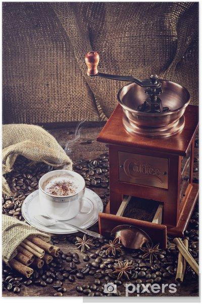 Plakát Mlýnek - Horké nápoje