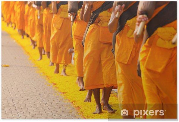 Plakat Mnisi w Tajlandii - Religie