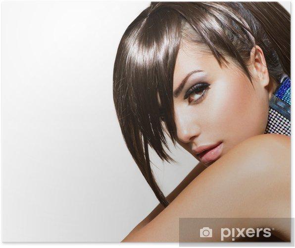 Plakat Moda piękna dziewczyna. wspaniały portret kobiety - Kobiety