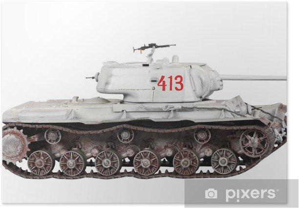 Plakát Model tanku izolované - Témata