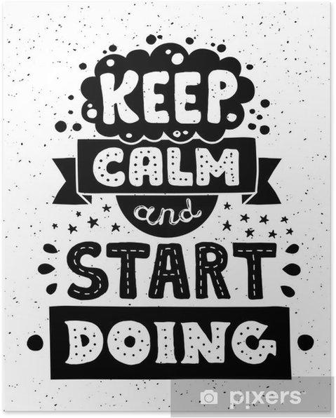 Plakát Moderní plochý design bederní ilustrace s citátem výraz Keep - Grafika