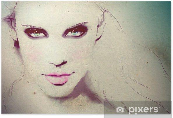 Plakát Módní ilustrace mladé dívky - Témata