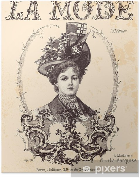 Plakát Módní kryt - Žena