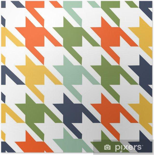 Plakat Modny wzór tkaniny - Tekstury